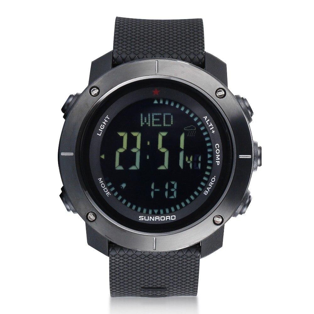 SUNROAD Montre femme homme montres numériques avec altimètre baromètre réveil boussole thermomètre Altitude tendance Reloj Hombre