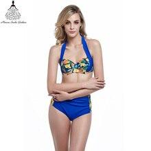 high waist swimsuit Women Halter Bikinis swimwear female plus size bathing suit bikini brazilian Bikini  Suits swimsuit biquini
