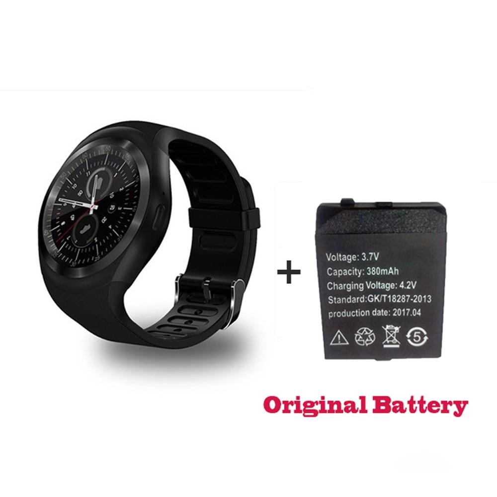 Купить с кэшбэком 696 Bluetooth Y1 Smart Watch Relogio Android Smartwatch Phone Call GSM SIM TF Card Camera activity tracker fitness  For Android