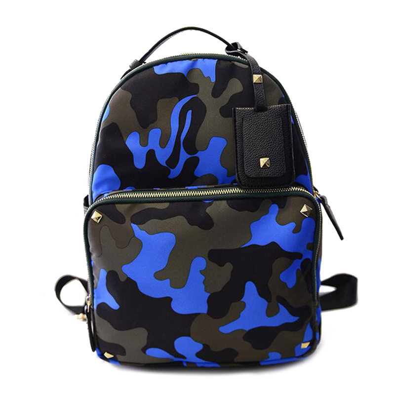 Fashion brand Camouflage Leather font b Backpack b font Men Book School Bags for Teenagers girls