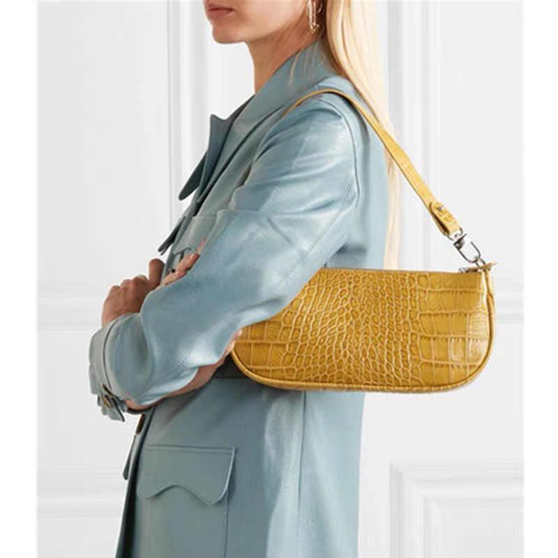 241eeb224e7c ... XMESSUN Baguette Crocodile Pattern Handbag Shoulder Bags 2019 New Female  High Quality Designer Vintage Fashion Catwalk ...