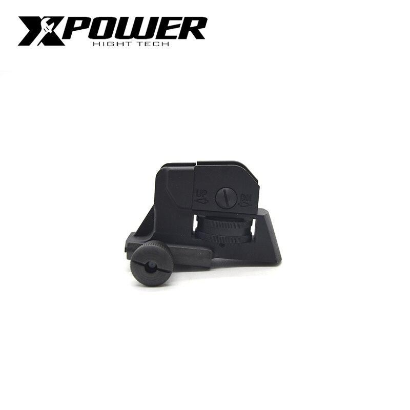 XPOWER CQB Back Sight For Air Guns Upgrade AEG Airsoft Paintball Gel Blaster CS Sports Gen8 J9