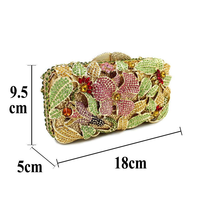 BL026 Luxury diamante evening bags octagon colorful clutch bags women party purse bags crystal sacoche pochette handbags