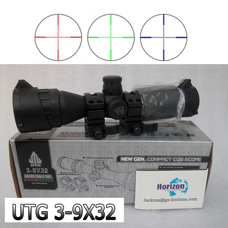 Leapers UTG 3-9X32 AOCE With Sun Shade dense point sight tube with extinction Rifle Scope Riflescope Free MountsOriginal text