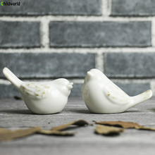Modern simple minimalist White Porcelain Bird Abstract ornaments home living room decorations