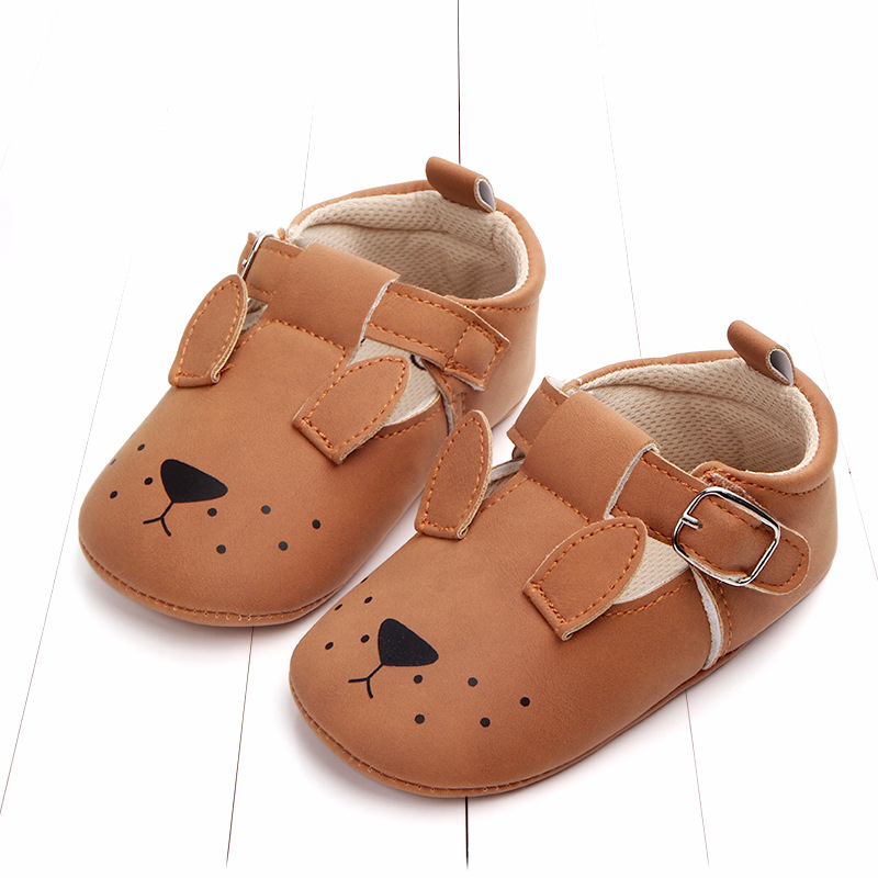 Baby First Walkers Matte leather Shoes for Baby Girl Boy Cartoon Animal Newborn Slippers Footwear Booties Kids Gift Child Shoes (3)