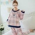 Franela Invierno Pijamas Más Tamaño 2XL Mujeres Adultos Pijamas Para Las Mujeres Conjuntos de Pijamas ropa de Dormir Pijama Femme Pigiama Donna Pijama Mujer