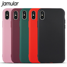 JAMULAR Ultra Slim Phone Case For iPhone X 6 6s 7 8 5 5s SE Cases Soft TPU Matte Cover For iPhone 6 6s 7 8 Plus Shell Capa Case