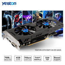 Yeston GeForce GTX 1050Ti GPU 4GB GDDR5 128 bit Gaming Desktop computer PC support Video Graphics Cards Ti