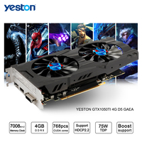 Yeston GeForce GTX 1050Ti GPU 4GB GDDR5 128 Bit Gaming Desktop Computer PC Support Video Graphics