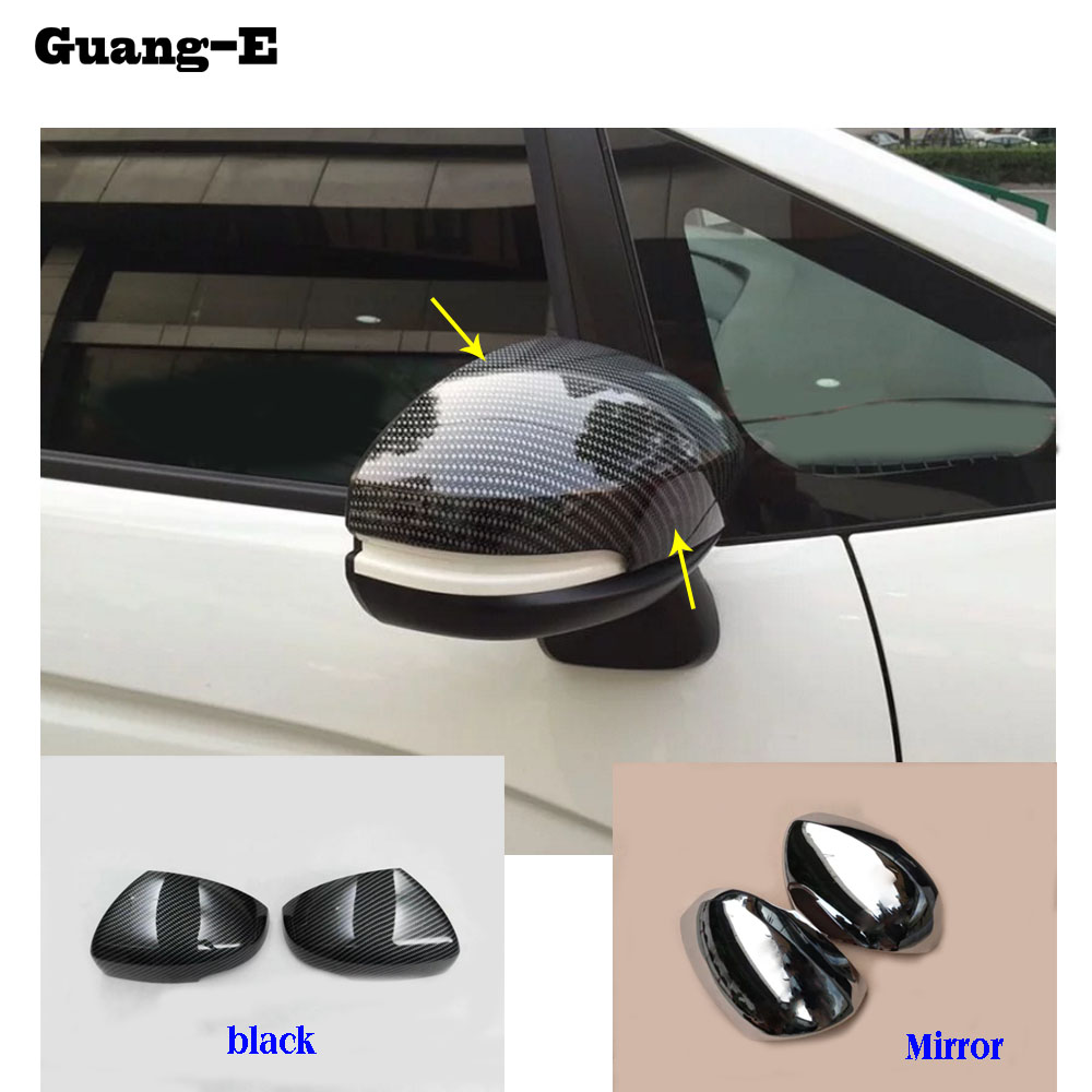 Car ABS chrome back rear view Rearview Side Mirror Strip Cover stick trim panel font b