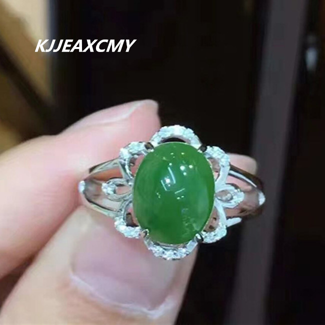 Rings Dutiful Kjjeaxcmy 925 Silver Inlay Jade Female Ring And Tian Yu Ring Nvjie Natural Opening Fashion Accessories