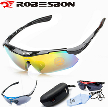 ROBESBON Outdoor Sports Bike Bicycle Goggles Galsses Road Bike MTB Cycling Men Women Driving Fishing Hiking Eyewear