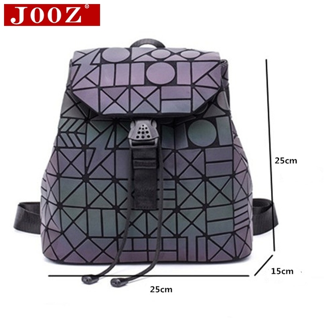 Luminous Backpack stitching Lattice Bag Men Women Backpack for Travel girl School Bag for Student's Backpack Hologram sac a dos 2