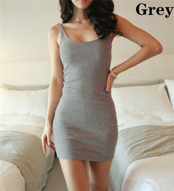 HTB1sADQGFXXXXcSaXXXq6xXFXXXV - Fashion Women Sexy Backless Basic Dresses Sleeveless Slim Vestidos Vest Tanks Bodycon Dress Strap Solid Party Dress