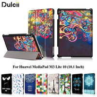 Case Cover For Huawei MediaPad M3 Lite 10 10 1 Inch Pattern Printing Tri Fold PU