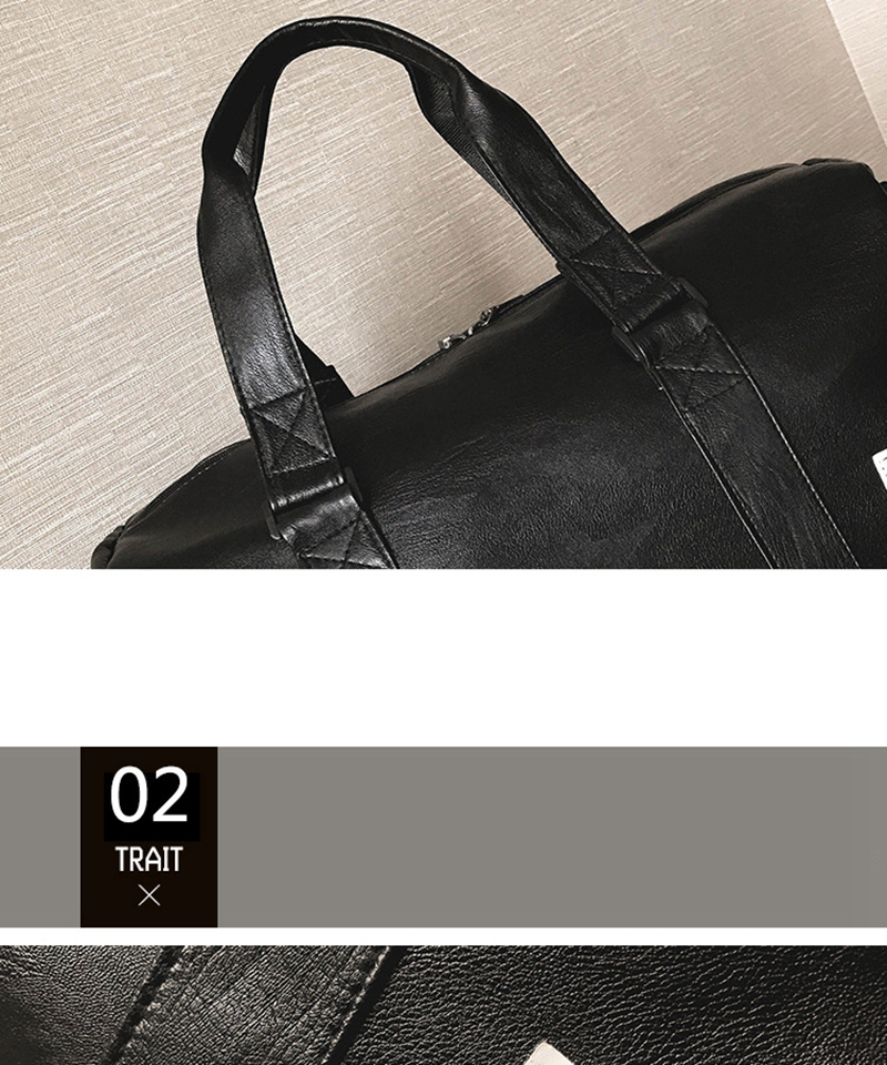 Gym Bag Leather Sports Bags Big MenTraining Tas for Shoes Lady Fitness Yoga Travel Luggage Shoulder Black Sac De Sport XA512WD (19)