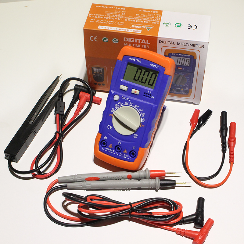 Mini Digital Multimeter Resistance Meter Capacitance Tester A6243L Inductance multimeter high precision digital capacitance inductance meter auto ranging component tester 500kh lc rc oscillation inductance multimeter