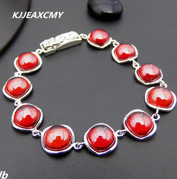 KJJEAXCMY Fine jewelry  Thai silver garnet bracelet 925 sterling silver retro fashion ladies new atmosphere