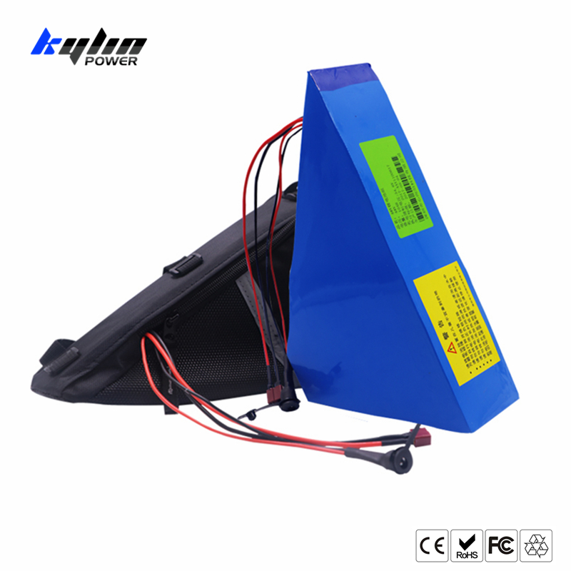 48V 20AH Triangle Lithium ion Electric E Bike Battery Ebike 30A BMS with Bag and 2A Charger for 500W 750W 1000W Bicycle Motor bicycle battery 48v 15ah 1000w lithium electric bike battery with 54 6v 2a charger 30a bms battery pack e bike battery
