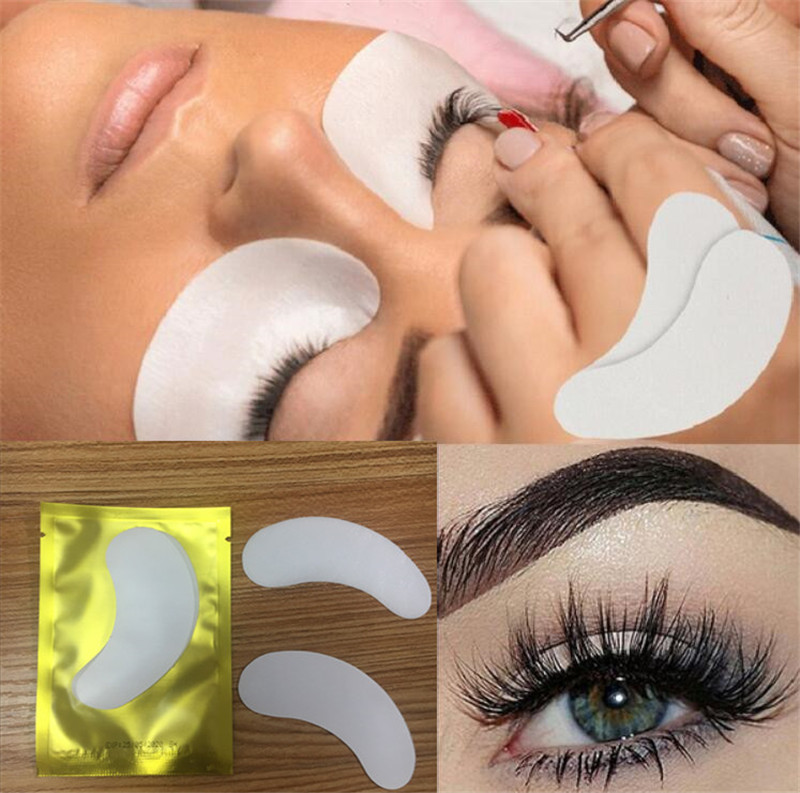 HTB1sADuAL9TBuNjy0Fcq6zeiFXae 100pairs/pack New Paper Patches Eyelash Under Eye Pads Lash Eyelash Extension Hydrating Eye Tips Sticker Wraps Make Up Tools