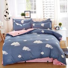 Autumn Dark Color Flower Series Bedding 4pcs Sets Quilt Duvet Cover Bedding Mans Cover Set