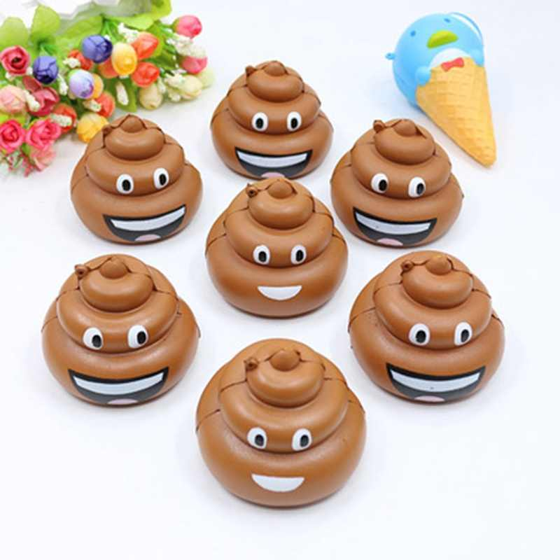 Mini Cartoon Simulation Poo Joke Toy Fun Gags Squeeze Anti-strss Toys Slow Rising Kid New Year Fun Gag Gift