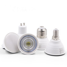 6W High Power MR16 GU10 E14 E27 LED Bulb AC 220V 2835 SMD Light With Protection Cap Spotlight Lamp For Ceiling