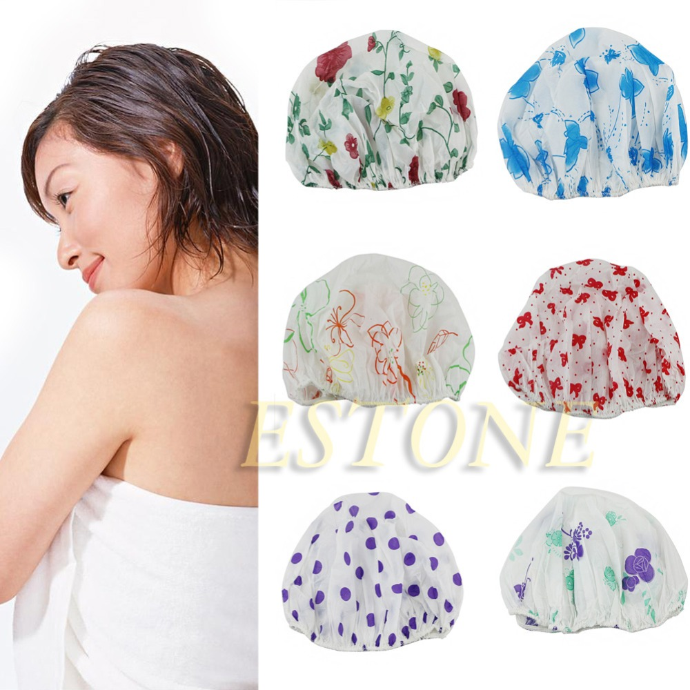 Beauty & Health Waterproof Women Elastic Lace Shower Bouffant Hair Bath Cap Hat Spa Protect Fm88 Sale Price Bath & Shower