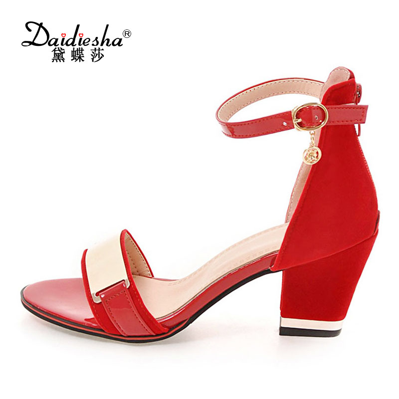 Aliexpress.com : Buy Daidiesha High Heeled Women Shoes Sandals Mature Peep Toe Womens Sandals