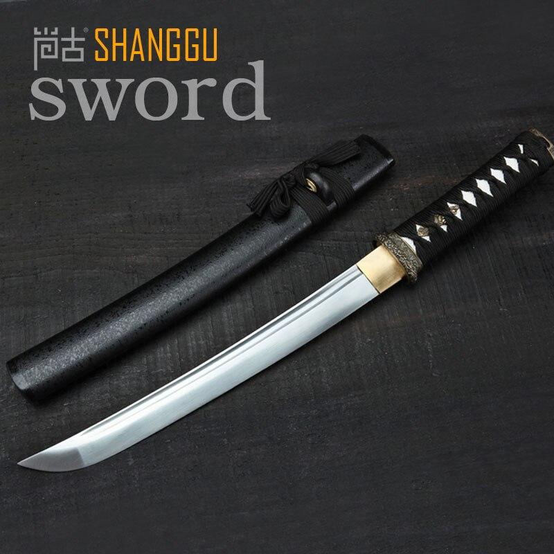 Korte paragraaf Zwart Katana Japan Woondecoratie Ninja Sword TV Props - Huisdecoratie