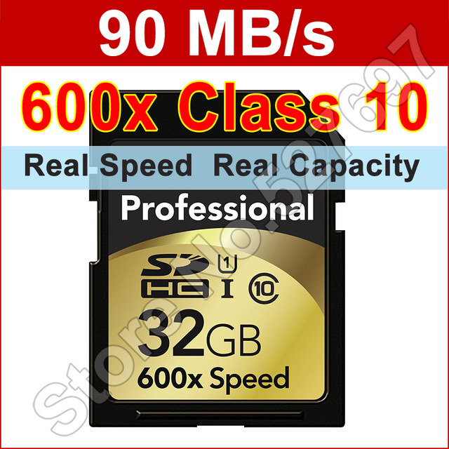 Professional Flash Memory Card 64GB 32GB 16GB SD Card Class 10 90Mb/s 600x High Speed CampactFlash SDXC/SDHC UHS-I Memory Cards