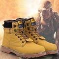 Botas de los hombres de Alta calidad zapatos de cuero de Los Hombres botas de Combate Retros Winter Inglaterra botas de Montar Botas de Los Hombres de moda de estilo corto Negro