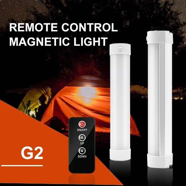Telecomando IR Luce di Campeggio USB Portatile Ricaricabile HA CONDOTTO LA Luce Tenda di Luce di Forte Magnetico di Campeggio Della Lanterna di Pesca Bivacco Luce