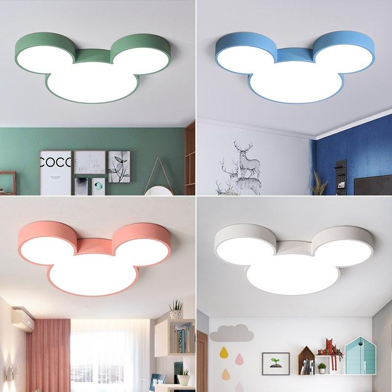 Us 78 81 29 Off Nordic Macaron Re Cartoon Modern Led Chandelier For Children Room Kid Deco Lighting Lamp Fixtures In