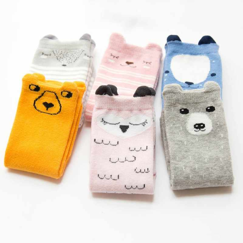 Spring Autumn Winter Baby Boys Girls Cotton High Tube Sweet Stockings Non-slip Three-dimensional Cartoon Children's Stockings
