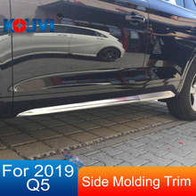 ABS CHROME SIDE DOOR BODY MOLDING TRIM COVER LINE GARNISH PROTECTOR ACCESSORIES 4PCS/SET FIT FOR AUDI Q5 2019