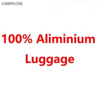 100% Aluminum magnesium alloy 20/24/26/28/30 inch rolling luggage business travel suitcase aluminum spinner trolley bag on wheel