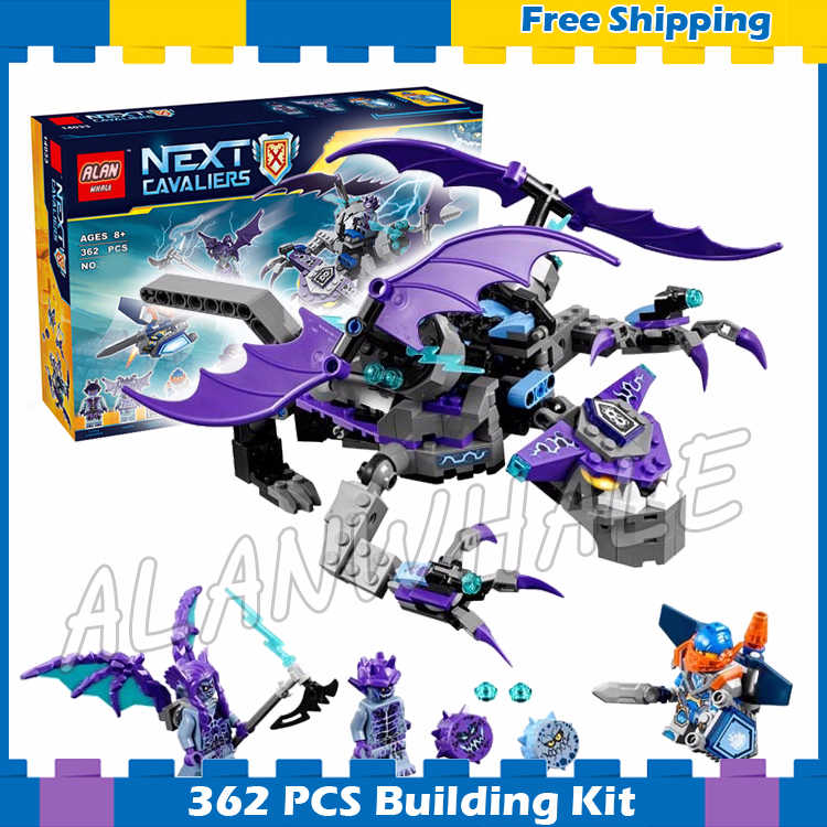 335pcs New Knights Shadow Heligoyle 10702 Model Building Blocks Assemble Children Gifts sets Movie Nexus Compatible With Lego
