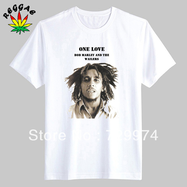Bob Marley And The Wailers One Love Man Thick Cotton T Shirt Vintage Fashion