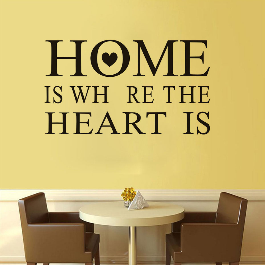 Home Is Where The Heart Is wall stickers Vinyl Art decals room kid ...