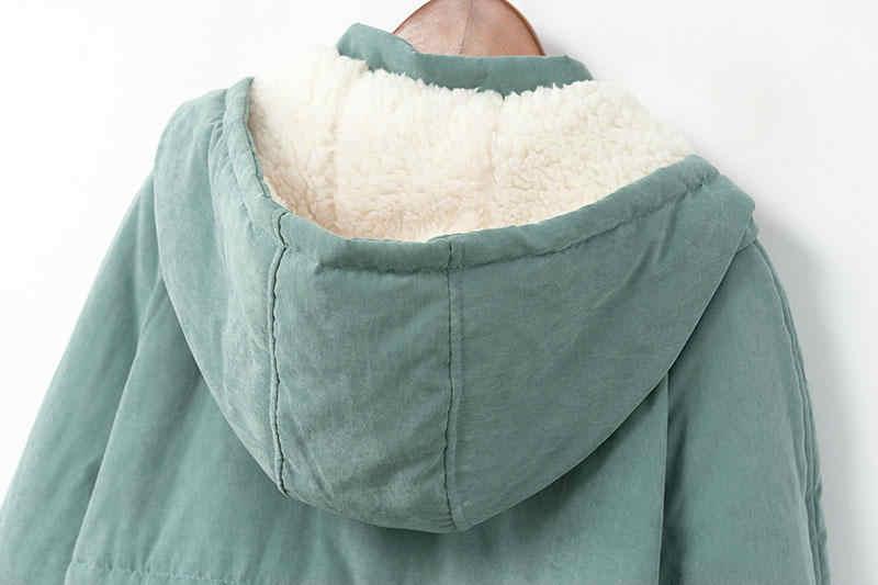 BO NU 2018 Novo Inverno Thicke Pele Longa Jaqueta Feminina Parka Quente Afrouxar Plus Size 4XL Inverno Mulheres Jaqueta Com Capuz casaco de Pele morno