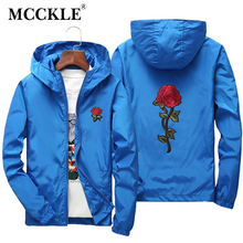 ФОТО mcckle mens 2018 spring flower hooded jacket windbreaker mens bomber jackets coats large size outwear dropshipping suppliers