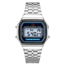 뜨거운 남자와 여자 레트로 럭셔리 전자 시계 남자와 여자의 시계