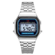 Gorące męskie i damskie retro luksusowe zegarki elektroniczne zegarki męskie i damskie