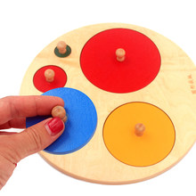 Wysokiej jakości dziecko Montessori matematyka drewniane zabawki geometria kształt wstawki 5 zestawów kolorowe wiele kwadratowych gałek 5 kwadratów zabawki