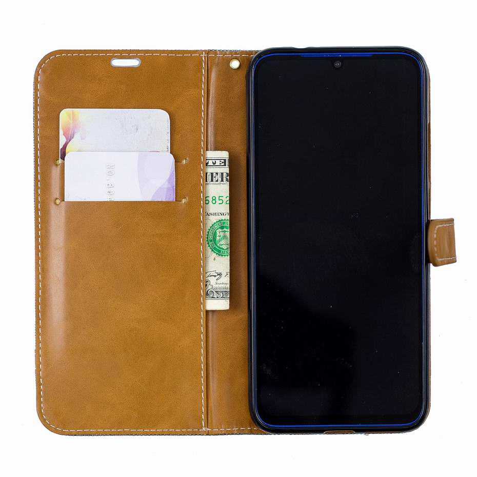 For Xiaomi Redmi Note 7 Case Denim Mixed Colors Leather Flip Wallet Case For Xiaomi Redmi Note 7 Stand Capa Cover Phone case in Wallet Cases from Cellphones Telecommunications
