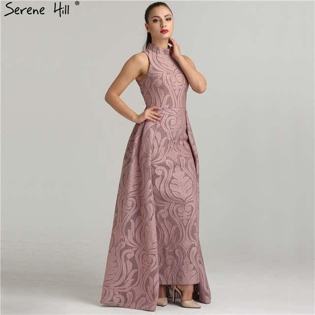 f8e79490ee1bc Fashion Mermaid High Collar Formal Evening Dresses Real Photo Sleeveless  Sexy Womens Evening Gowns 2019 Serene Hill QA8004