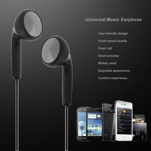 Image 3 - Black Universal Music Earphone 3.5mm Wired Stereo Headphones  Earpiece With Mic For Phones MP3 players Computer