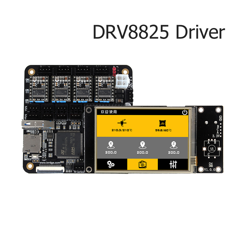 3D printer control board DRV8825 driver with 3.5 touch screen wired/wifi/TF/Flash directly printing support breakpoint print мойка кухонная omoikiri akisame 78 gm r 4973100
